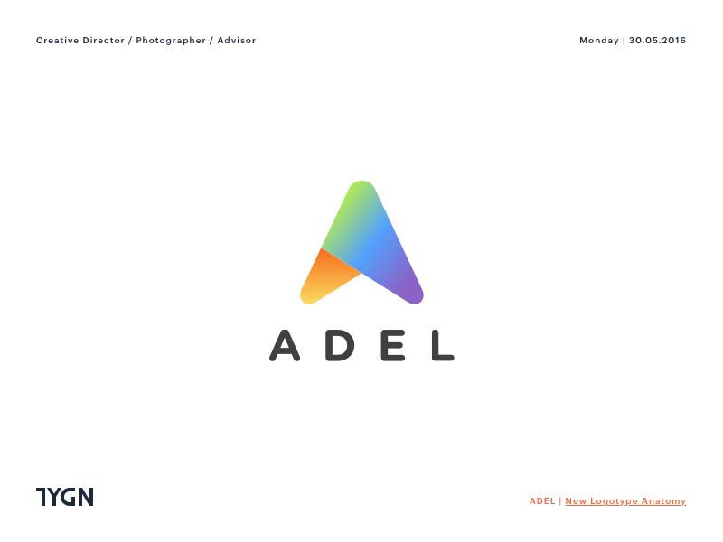 Adel - New Logotype Anatomy adel tasarım grafik a symbol mark icon logo taygun london istanbul turkey