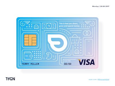 Ozan - Physical Card Design ozan tasarım grafik visa symbol creditcard card logo taygun london istanbul turkey