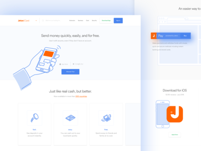 Jeton - New Website card tasarım grafik mainpage btc payment landing page logo taygun london istanbul turkey