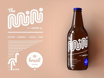 Mini Coffee Co. - New Bottle Labels logotype icon mark symbol logo glass bottle coldbrew bodrum coffeeshop coffee