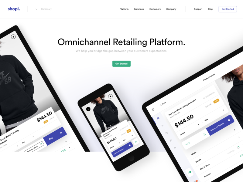 Shopi Hq - New Website web app icon branding ux istanbul typography application devices platform landing page logo design ui