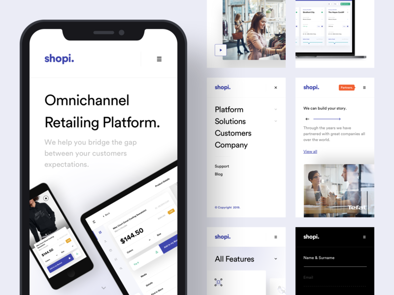 Shopi Hq - New Website / Mobile Version shop product landing platform menu interface design ux istanbul mobile app interface mobile taygun logo design ui