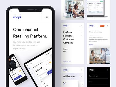 Shopi Hq - New Website / Mobile Version shop product landing platform menu interface design ux istanbul mobile app interface mobile taygun logo design ui