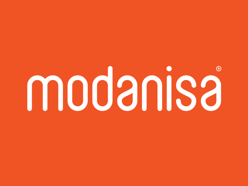 Modanisa - Logotype store istanbul solid type font cloth fashion sans custom logotype logo