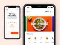 Heyo / Food Delivery App - IOS Screens
