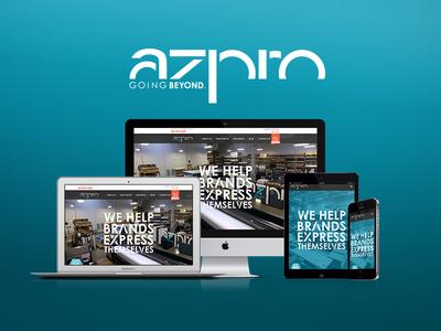 Custom Website Redesign for azpro custom developer designer wordpress design website design web development web design graphic design