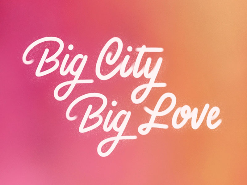 Big Love design spraypaint hand-lettering lettering nyc new york