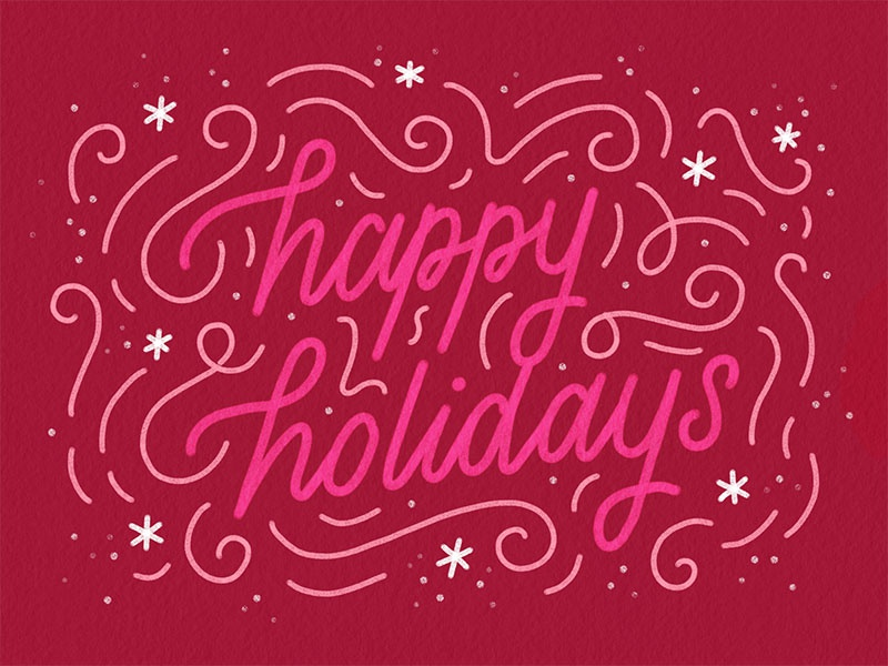 Happy Holidays christmas cards holidays christmas type hand-lettering lettering design