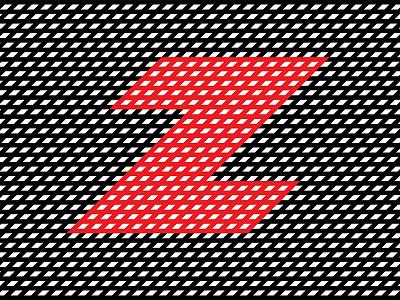 Zig-Zag Z lines texture intersect cross pattern vector design flat letter z zigzag 36daysoftype