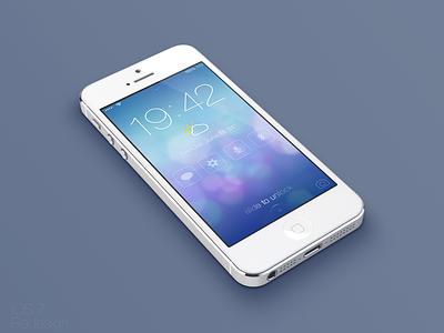iOS7 Lock screen - Redesign (@2x) ios7 ios 7 ico icons iphone mobile lock screen redesign weather