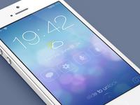 iOS7 Lock screen - Redesign (@2x)