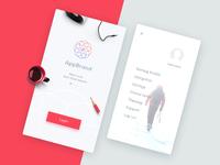 Onebording   app menu