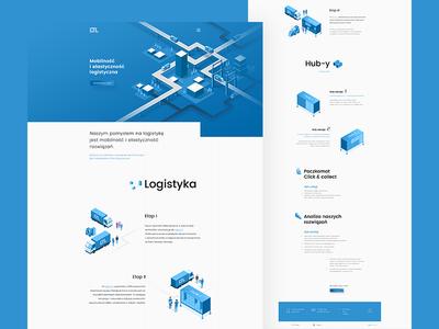 LTL website landing page illustrations transport website logistics shipping icons ux forwarding