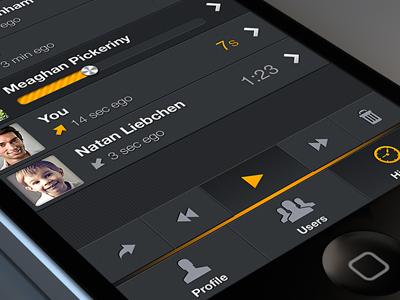 Zello App - list conversation
