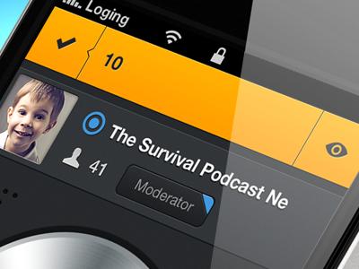 Zello App - bar navigation