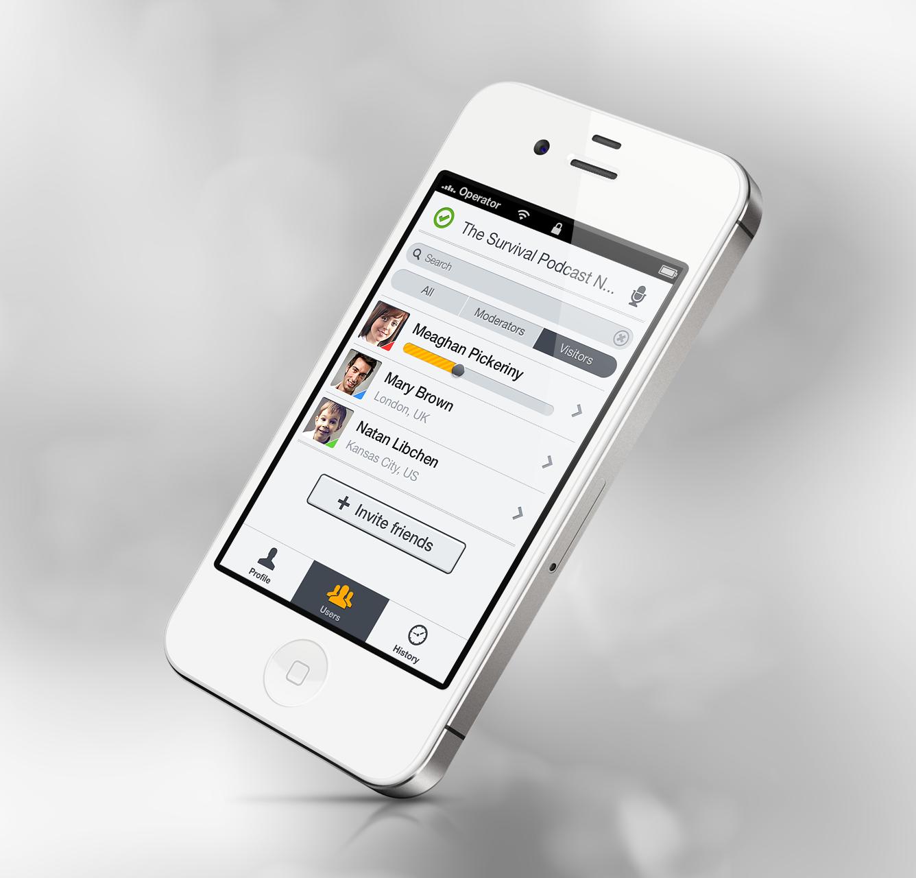 App zello  settings list big