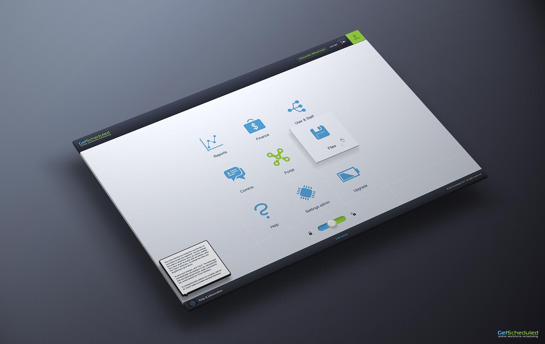 Dribbble getsheduledappusermenuhdg by mariusz onichowski getsheduled app user menu hd colourmoves Images