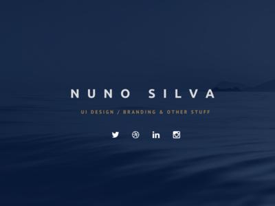 Personal website website landing page