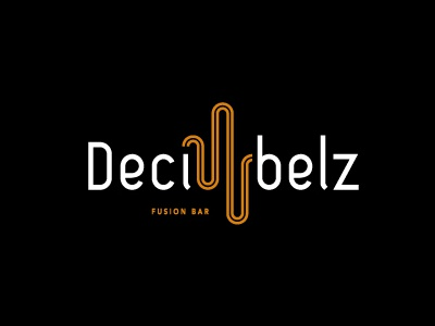 Decibelz Fusion bar Logo world music live music bar logo