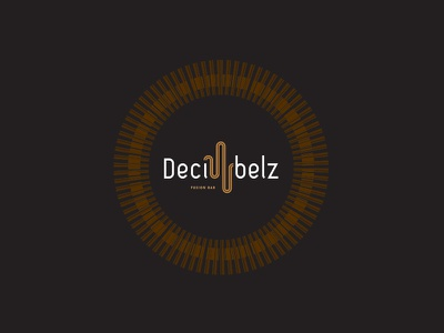 Decibelz Fusion Bar Logo world music live bar logo