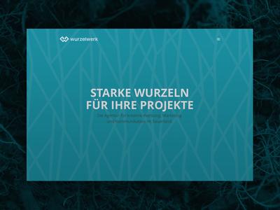 Wurzelwerk home page web design brand