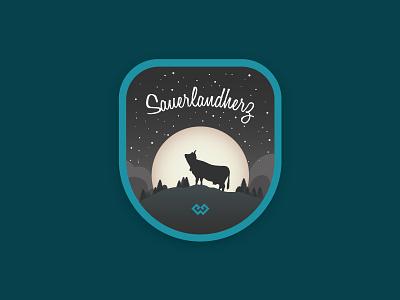 Sauerlandherz brand gift moon cow sticker sauerland