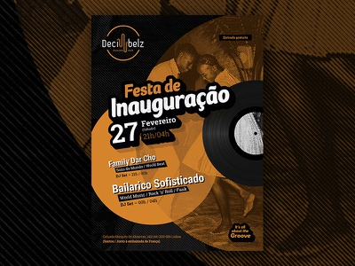 Fusion music bar inauguration vinyl groove flyer inauguration