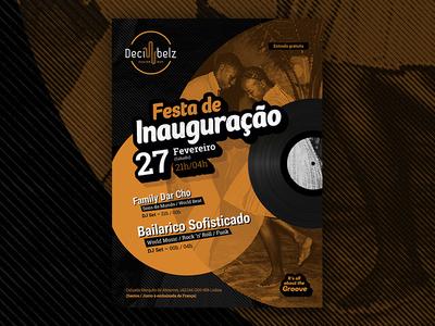 Fusion music bar inauguration vinyl groove flyer inauguration