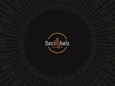 Decibelz bar – final Logo groove vinyl fusion world music logo