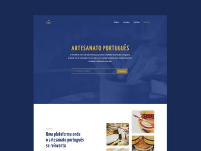 Artemão landing page project personal logo handcraft brand