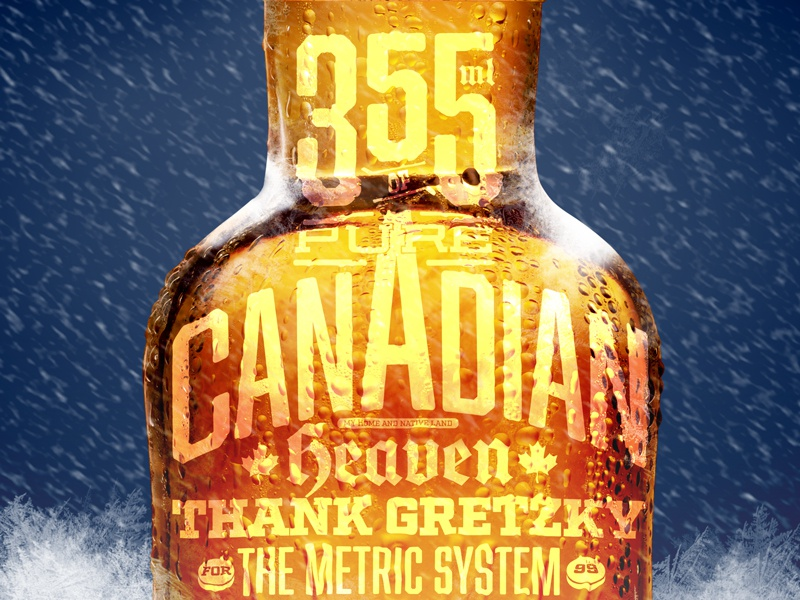 Canadian Heaven beer canada bottle typography