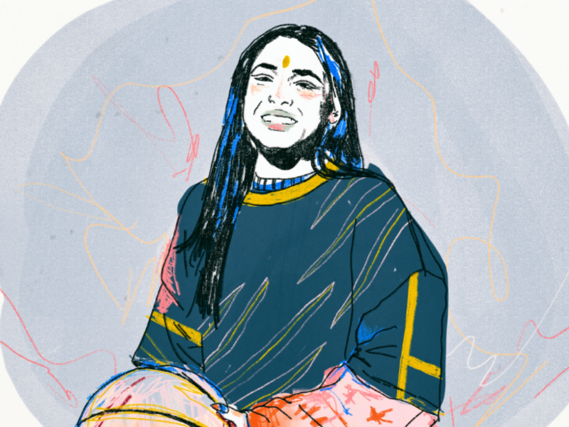 Princess Nokia sweet tomboy queer illustration colors smile singer princess nokia