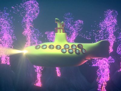 Yellow Submarine | Volcanic Vents bubbles volcanic vents ocean submarine underwater xparticles 3d animation octane design render cinema 4d c4d