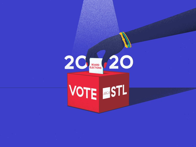 AIGA STL | 2020 Board Elections 01 grainy grain 2d animation graphic 2danimation 2020 st. louis election vote hand 2d design animation illustration