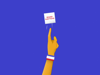 AIGA STL | 2020 Board Elections 04 motiongraphics after effects graphics motion graphic motion design motion stl vote hand 2d animation 2danimation animation design illustration