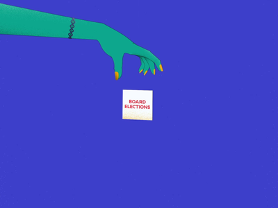AIGA STL | 2020 Board Elections 02 motiongraphics motion design motion 2020 grain box ballot vote 2d animation 2danimation graphic art hand zombie animation design render illustration