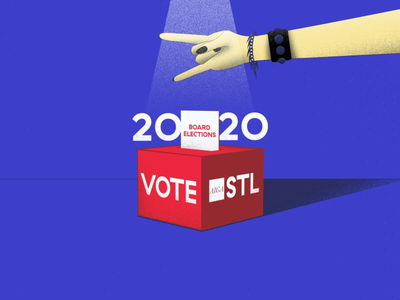 AIGA STL | 2020 Board Elections 03 mograph motiondesign motion rock design aftereffects illustrator grain 2020 vote hand aiga illustration animation