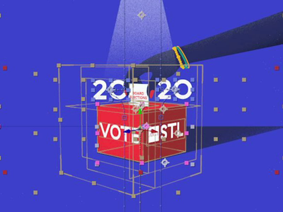 AIGA STL | 2020 Board Elections 01 BTS 2020 aiga vector after effects illustrator 2d art design graphic motiongraphics motion 2d animation hand 2d animation illustration render