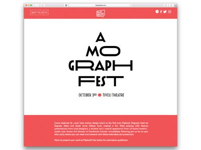 Flipbook Website week design st. louis festival graphics motion flipbook