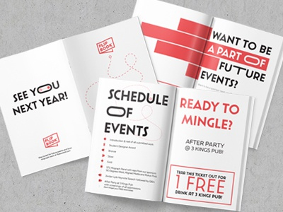 Flipbook Program flipbook event program print design