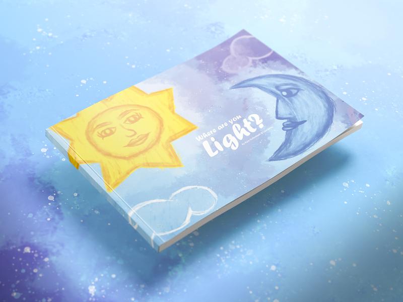 Prop Book illustration bookcover propane children book moon sun design book