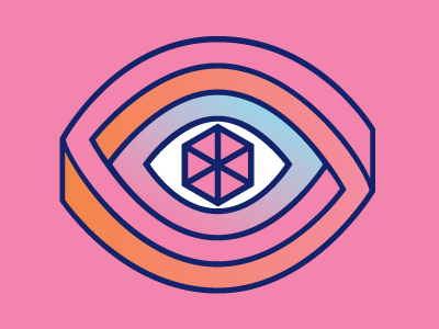 Ojo effect optical logo icon