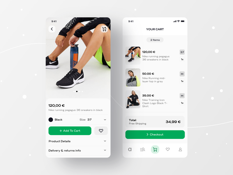 Asos Online Shopping_Mobile App UI Redesign Concept typeface header buttons profile ecommerce shopping bag shopping app checkout cart mobile app mobile appdesign design ux uidesign tabs digital navigation ui