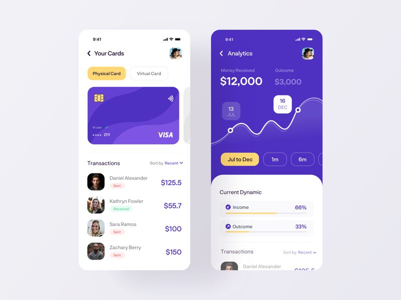 Money Transfer Mobile App - My Cards recipes send mobile design tabs navigation analytics credit card payments cards mobile app mobile ui finance app finance moneyapp banking app money uiux ui