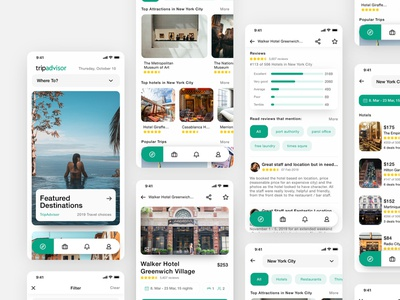 Tripadvisor Mobile App _ Redesign 03 popular mockup trip app booking hotels view list results slider bars mobile app search bar navigation tabs travel app design digital ux uidesign ui