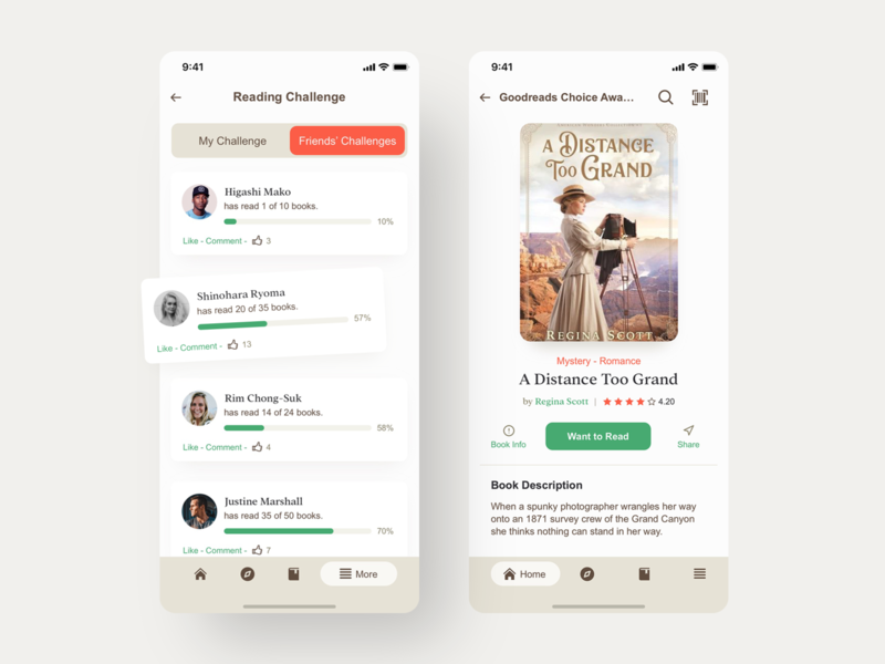Goodreads | Book Details - UI - Redesign mobile app mobile ui mobile goodreads read books header app experience appdesign tabs design navigation digital ux uidesign ui