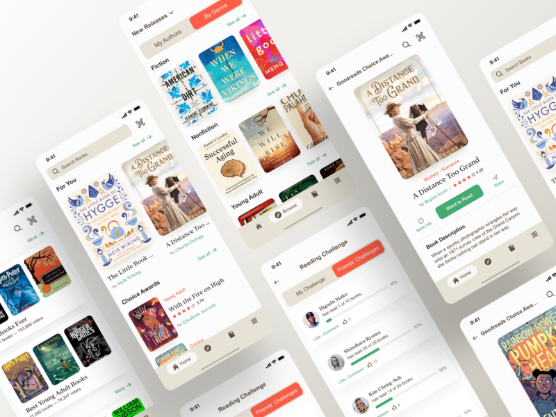 Goodreads Mobile App - UI - Redesign reader books ios apple kindle amazon mobile ui mobile app mobile search bar app appdesign ui design tabs digital ux uidesign navigation