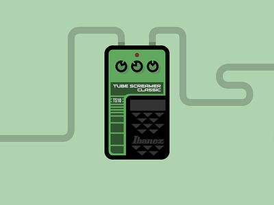 Ibanez TS10 - Guitar Pedal guitar pedal icon illustration ts10 ibanez