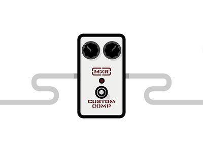 MXR Custom Comp compressor mxr icon illustrator flat guitar pedal