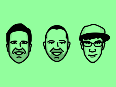 Some Headshots podcast sketch stroke flat ui headshot illustration